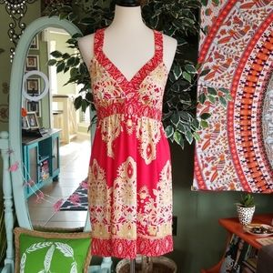 INC Petite Summer Dress with gold studs
